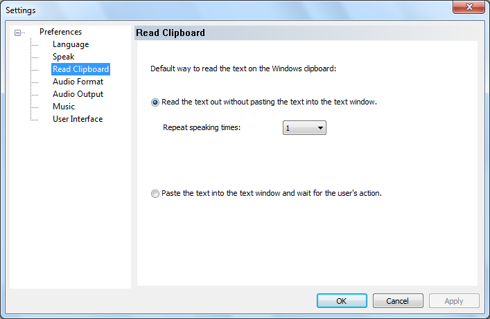 read-clipboard setting dialog